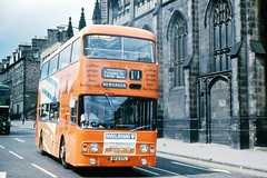 Before the Credit Crunch (georgeupstairs) Tags: bus edinburgh alexander doubledecker barclaycard lothianregiontransport atlantean leylan an68 alloveradvert
