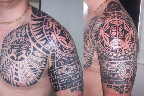Tribal Shoulder Tattoo by Classic Ink Tattoo Studio