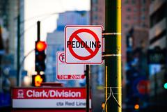 Peddling is prohibited