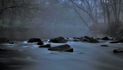 Rock Creek (noblerzen) Tags: park longexposure blue mist water rock fog creek out washingtondc twilight nikon glow hour dcist in2 d90 out2 in4 in1 in3 in6 in5 savedbydmu