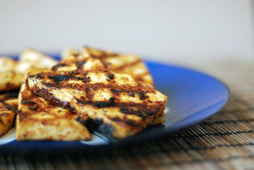 Grilled Maple-Mustard Chili Tofu