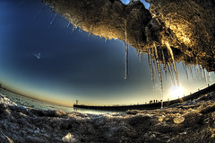 Sunrise, Ice, Sand (kern.justin) Tags: street lake ice sunrise sand nikon michigan 31st d700 kernjustin wwwthewindypixelcom