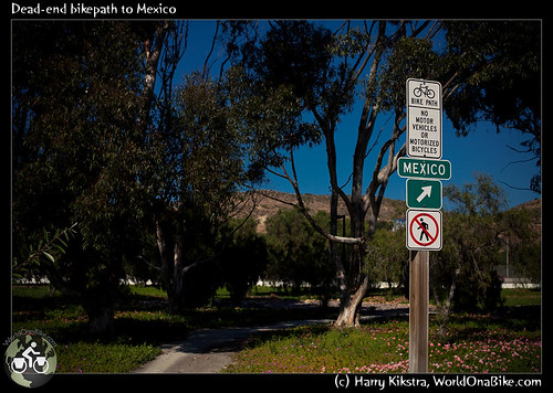 Dead-end bikepath to Mexico