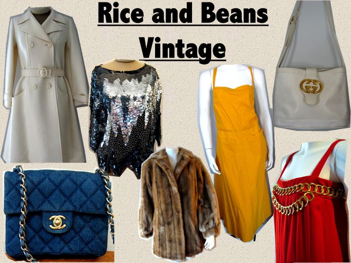 Online Vintage Designer Clothing Rice and Beans Vintage is an