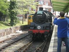 Swanage railway - (Carol B London) Tags: station video platform engine railway steam dorset swanage videos steamengine choochoo steamtrain recordings footage corfecastle chugchug