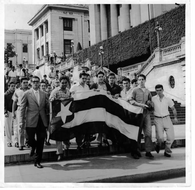 Havana University Student Demostration