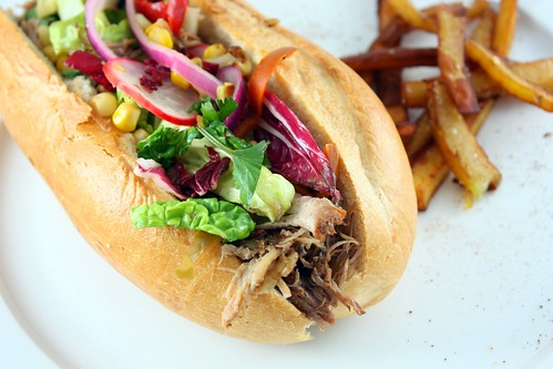 Pulled Pork Sandwich & Sweet Potato Fries