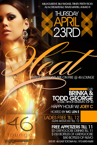 46 Lounge - Totowa New Jersey - Status Thursdays Flyer