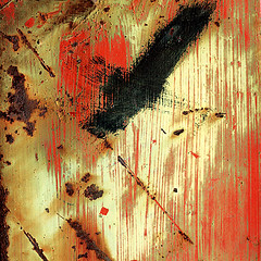 Eagle (daliborlev) Tags: abstract texture metal square rust paint industrial urbandecay rusty scratches brno oxidation damage damaged scratched birdinflight mundanedetail zbrojovka