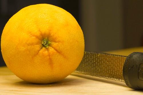zested orange