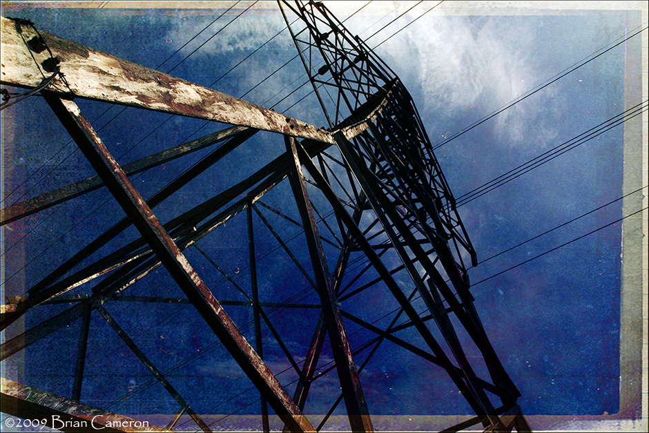 Pylon on Blue