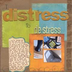 Distress to de-stress (kerrycwills) Tags: art ink scrapbooking paper photos stamp supplies distress heroarts techniques 12x12layout lp019layeringcircles a3120littlelattice