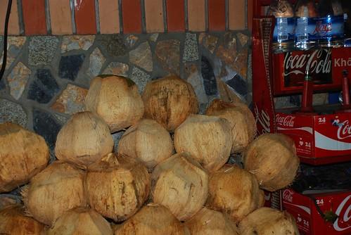 coconut pile
