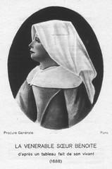 La Vénérable Soeur Benoîte d'après un tableau fait de son vivant (1688)