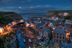 Staithes At Dusk - May 2009 (Ben Pearey) Tags: sunset coast seaside fishing long exposure village yorkshire north coastal hdr staithes cowbar bppnight