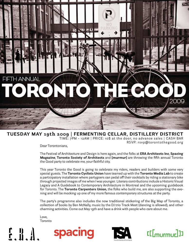Toronto The Good Invite 2009