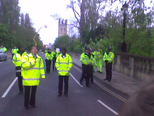 Police Blockade Oxford May Morning 2009