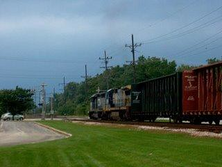 Westbound Canadian National freight train. North Riverside Illinois. September 2006.