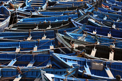 Interleaving Boats (MykReeve) Tags: blue port boats boat harbour morocco bow fishingboats fishingboat essaouira mogador    geo:lat=31509685 geo:lon=9773707