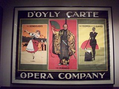 D'Oyly Carte Opera Company (Jamie Barras) Tags: uk light england london museum poster graphicdesign theatre albert guard victoria va mikado gondoliers southkensington gilbertsullivan sw7 yeomen