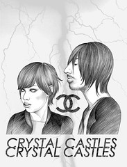 CRYSTAL CASTLES (MISS MIRMA) Tags: 2 music illustration arte rockmusic bologna galleria indiemusic electromusic crystalcastles emomusic aliceglass