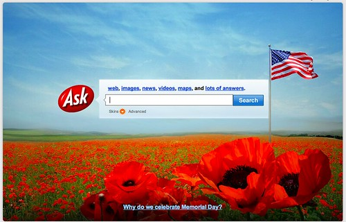 Ask.com Memorial Day Logo
