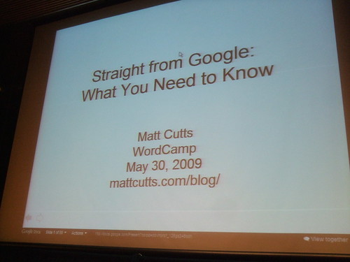 Matt Cutts from Google