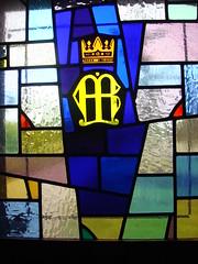 DSC00814 (Faded Photograph) Tags: blue newyork window glass colors buffalo shrine ns nt chapel stainedglass fatima lewiston fatimashrine