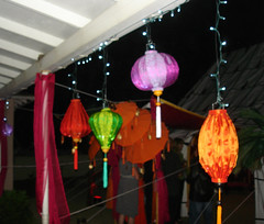 Lanterns at Night at Eileen's Party