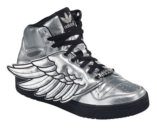 Shoes with wings