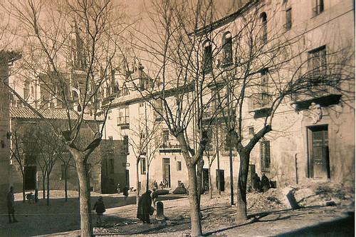 Plaza de San Justo (Toledo) a inicios del siglo XX