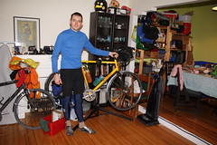 Daniel Hughes, with bicycle at Flickr.com