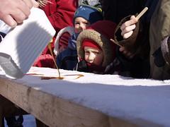 Children Enjoying Maple Taffy