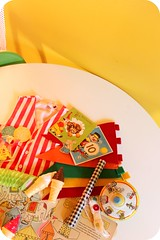Circus Party Loot (ittybittybirdy) Tags: birthday party vintage cards circus tent seal theme elephants supplies clowns conductor