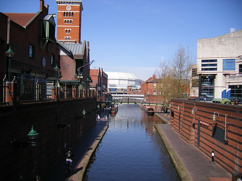 Brindley Place - far down to The NIA
