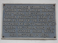 Photo of Victoria and Victoria of Saxe-Coburg-Saalfeld grey plaque