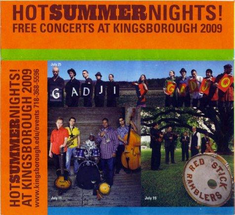 kcc summer concerts 2009