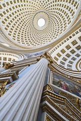Malta - Mosta - Dramatic Church Interior (Darrell Godliman) Tags: travel vacation copyright holiday building travelling tourism church architecture buildings arquitectura nikon europe mediterranean interior dramatic eu wideangle malta dome architektur d200 rotunda med architettura europeanunion allrightsreserved mediterraneansea architectuur mosta mimari architecturalphotography mostadome travelphotography nikond200 instantfave 5photosaday omot  travelphotographer flickrelite dgphotos darrellgodliman wwwdgphotoscouk architecturalphotographer flcikrelite dgodliman mediterraneanisland maltaandgozo ilmosta rotundaofstmarijaassunta georgegrognetdevasse ecclestiasticalarchitecture maltamostadramaticchurchinterior giorgiogrognet 2009dgodliman