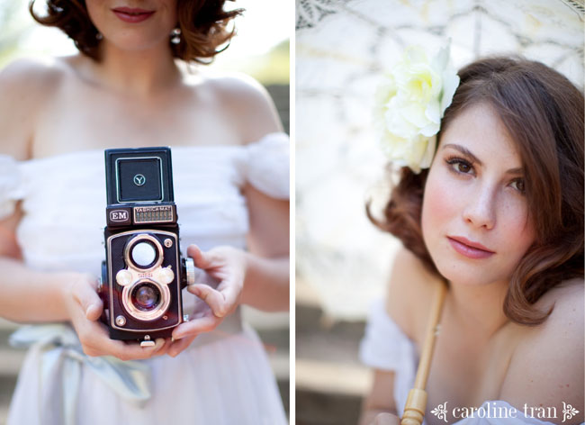 vintage bridal portraits