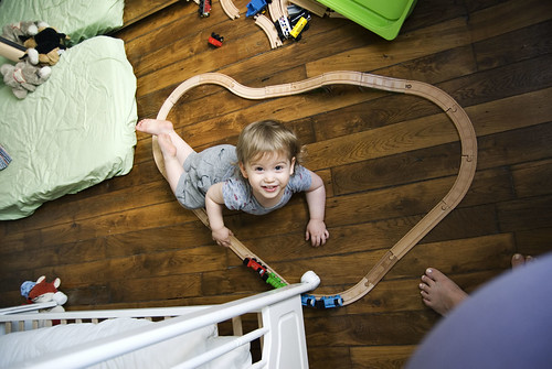 Train track that he built himself