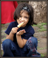 Cutieee :) (Prashhant) Tags: portrait cute girl childhood kids children kid child sweet candid small gal icecream pune sakal kulfi sinhgad kondhana prashhant
