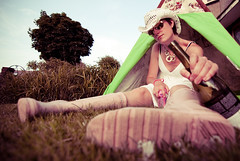 Glasto envy (Ly (Lyanne Wylde Photography)) Tags: selfportrait me wine festivals glastonbury tent ly hunters lyanne cansmellthewetmudfromhere