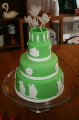 Green Wedgwood Cake (FostersFrostings) Tags: china birthday flowers green cakes glass cake baking homemade decorating wedgwood jasperware