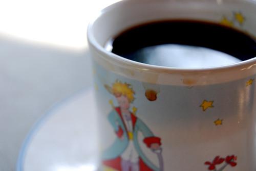 Le Petit Prince et de cafe noir