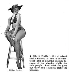 Ethlyn Butler, A Six Foot Shake Dancer, Now A Fortune Teller - Jet Magazine, April 29, 1954 (vieilles_annonces) Tags: old people usa black history vintage magazine print scans fifties photos african negro 1954 retro ephemera nostalgia photographs american 1950s americana colored 50s magazines articles folks oldphotos civilrights newsclipping blackhistory vintagephotos africans africanamericanhistory negroes peopleofcolor vintagephotographs vintagemagazine coloredpeople negrohistory coloredfolk shakedancer blacknews ethlynbutler