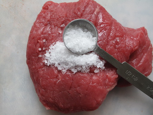 Sea salt and steak
