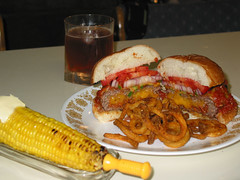 4th of July - Burger Time (Ignotz) Tags: corn burger fries grilled