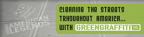 Domino's Pizza greenwashes with GreenGraffiti