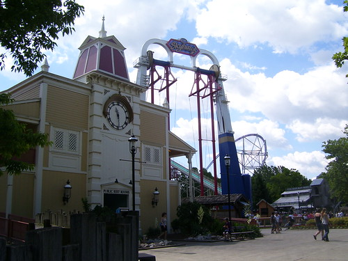 Cedar Point - Skyhawk and Clock Tower