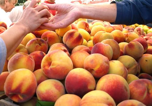 end of summer peaches